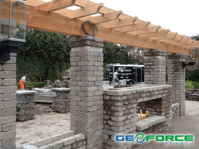 GeoForce Energy outdoor living space design