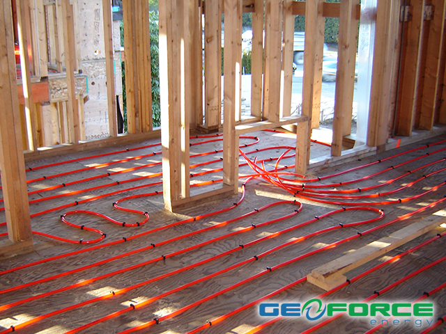 Radiant in floor heating cooling by geoforce energy for Radiant heat flooring options