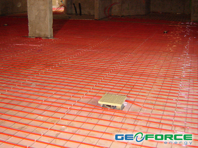 GeoForce radiant in-floor heating and cooling systems